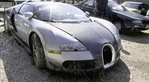 Bugatti Veyron en desguace