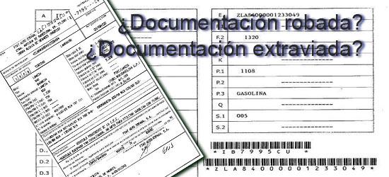documentación robada o extraviada